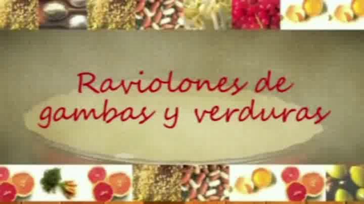 Recetas paso a paso: \'Raviolones\' de gambas y verduras