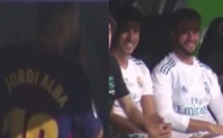 El momento en el que Asensio y Nacho se burlan de Jordi Alba