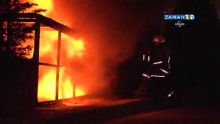 Topkapı ucuzluk çarşısında maddi hasarlı yangın