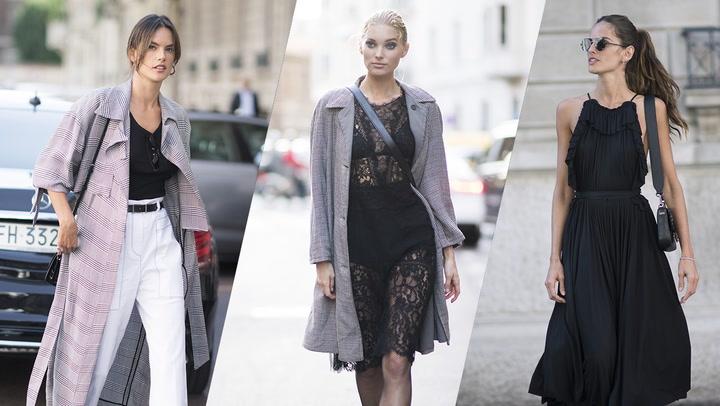 Los \'looks\' más destacados de las invitadas a la semana de la moda de Milán