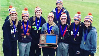 The Morris Area/Chokio-Alberta girls cross country team returns everyone but Becca Holland (center) in 2016. The Tigers won the Section 6A title in 2015, earning a trip to the Class A State Meet at St. Olaf.