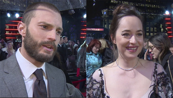 Jamie Dornan and Dakota Johnson talk about their \
