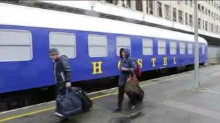 Un hotel en vagón, opción en estación croata
