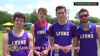 Lyon County's 4x200M Relay Team