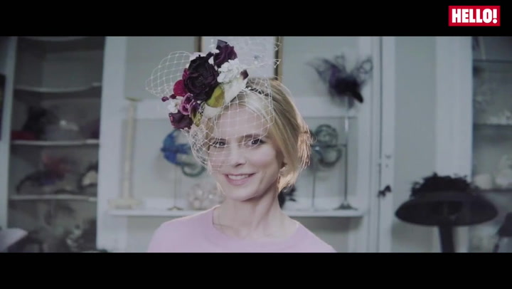 Hats off to Emilia Fox as she prepares for a day at the races