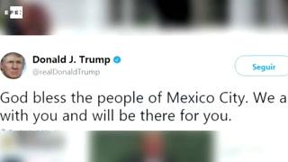 Trump ofrece apoyo al pueblo mexicano tras fuerte seísmo en Ciudad de México