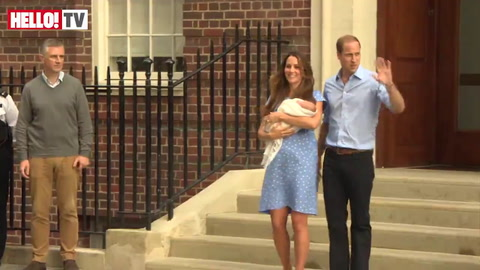 Relive the moment when new parents William and Kate left the hospital