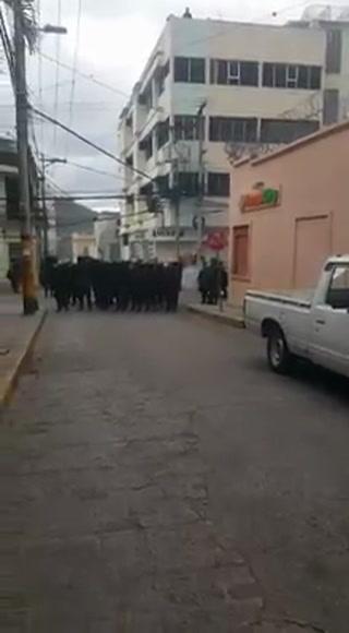 Se registran disturbios en el centro de la capital de Honduras