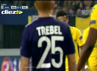 GOOOOOOL DEL PSG! Al 66 Neymar le hace el 3-0 al Anderecht de Bélgica.