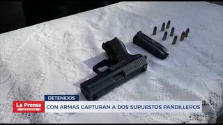 Con armas capturan a dos supuestos pandilleros