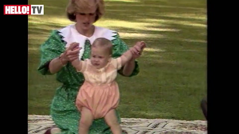 Watch Prince William as a baby