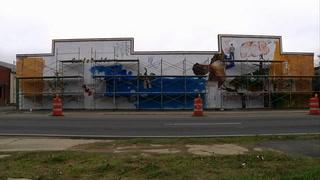 Gaines street mural: art in fast forward