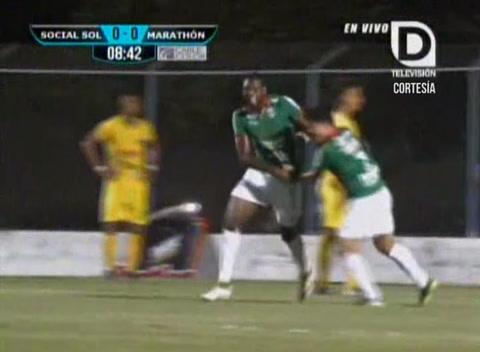Resumen primer tiempo Social Sol 1-1 Marathón (Liga Nacional)