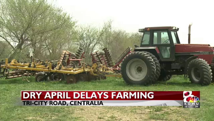 Dry April worries farmers