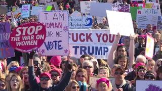 Miles marchan contra Trump en aniversario de su presidencia