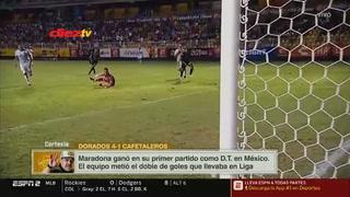 Maradona debutó  goleando con los Dorados de Sinaloa