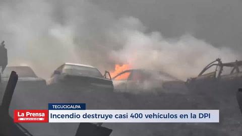 Incendio destruye casi 400 vehículos en la DPI