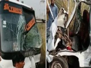 سرگودھا میں مسافر بس اور اسکول وین میں تصادم، 7 افراد جاں بحق