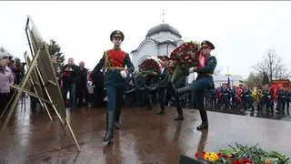 Homenajean a los bomberos caídos en Chernóbil