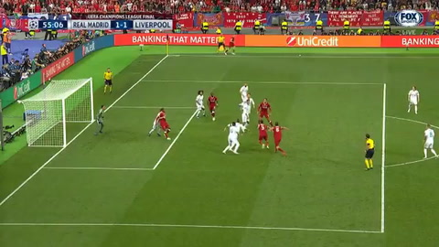 Gol de Sadio Mané de Liverpool en la final ante Real Madrid