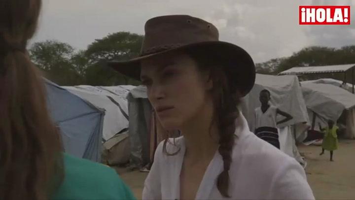 Keira Knightley visita a los refugiados del sur de Sudán