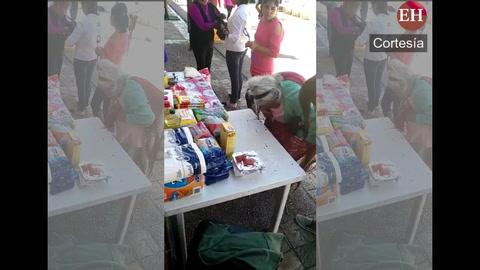 Ancianita da todo lo que tiene para danmificados de terremoto en México