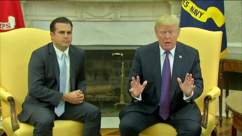 Trump se da un 10/10 por su respuesta en Puerto Rico