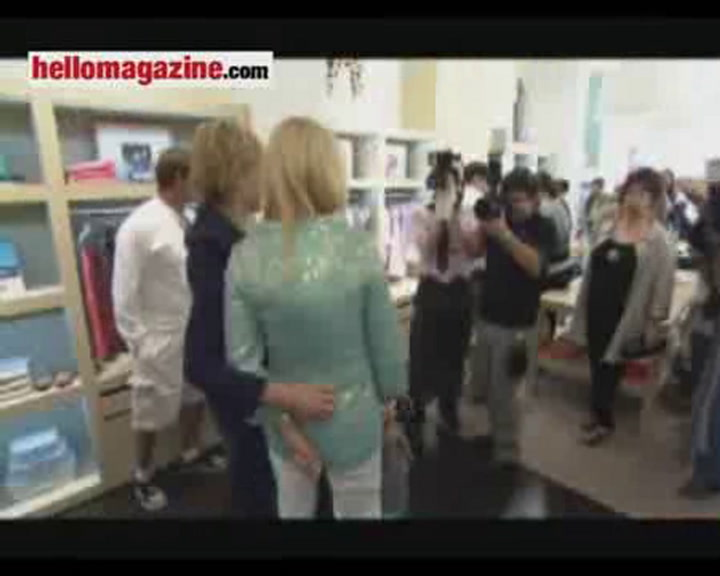 Minnie and Sharon help Marie-Chantal open new LA store