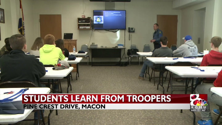 MSHP teaches students about a trooper's duties
