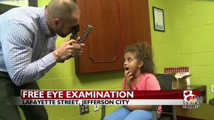 Free eye exams at the Boys and Girls Club