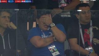 Captan a Diego Maradona llorando tras la derrota de Argentina ante Croacia