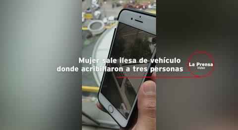 Mujer sale ilesa de vehículo donde acribillaron a tres personas