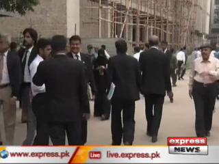 سانحہ مستونگ کے خلاف وکلاء کا احتجاج