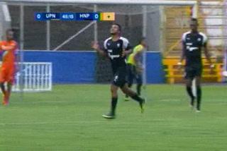 ¡GOOOL DE HONDURAS PROGRESO! Al 45 Edwin León abre marcador ante UPNFM