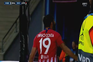 Diego Costa anota el 1 - 0 del Atlético de Madrid ante el Real Madrid