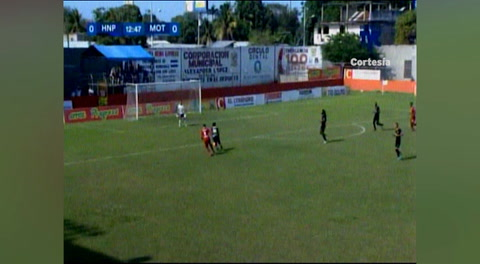 Primer gol de Motagua al HNP (Liga Nacional 2018)