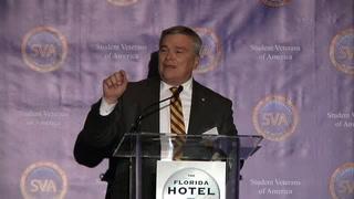 Barron addresses Student Veterans of America