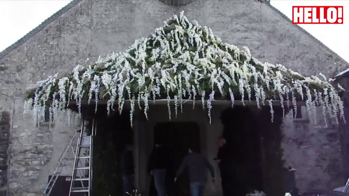Church transforms into winter wonderland for Andrea Casiraghi and Tatiana Santo Domingo\'s wedding