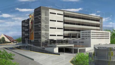 Así será el moderno edificio 1847 que se construye en la UNAH