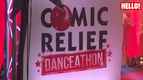 Celebrities take part in the Comic Relief Danceathon