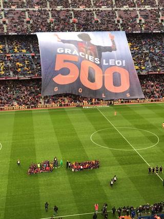 El homenaje a Leo Messi en el Camp Nou por sus 500 Goles con el FC Barcelona
