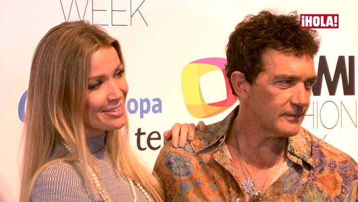 Antonio Banderas, más romántico que nunca con Nicole Kimpel