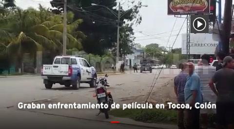 Honduras: Graban enfrentamiento de película en Tocoa, Colón
