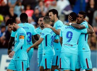 Barcelona golea de visita al Leganés y mete más presión al Real Madrid
