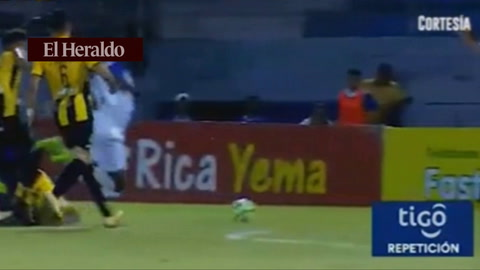 Yerson Gutiérrez anota el 2 - 3 para el Honduras P. frente al Real España
