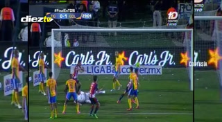 MINUTO 23' ¡GOOOOOOLLLL DE CHIVAS! Alan Pulido manda a callar al Volcán y Tigres cae 0-1 en la final de la Liga de México.