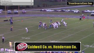 Highlight Reel - Caldwell County 34 Henderson County 14