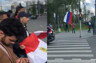 Video viral: Hinchas egipcios le sacan tremendo susto a un aficionado ruso