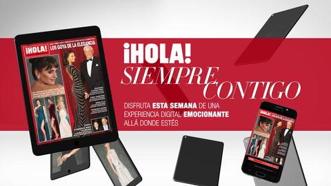 Ya puedes disfrutar en tu tablet y tu móvil del último número de la revista ¡HOLA! con vídeos y contenido extra