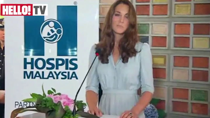 Kate makes her first overseas speech in Malaysia